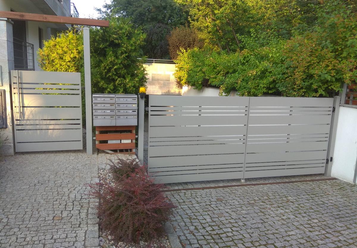 Aluminiowe nowoczesne ogrodzenie