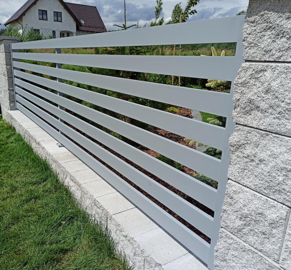 Ogrodzenie aluminiowe nowoczesne